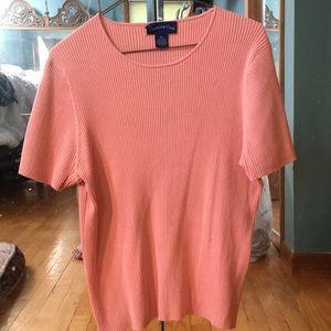 Pink 3-4 sleeve shirt